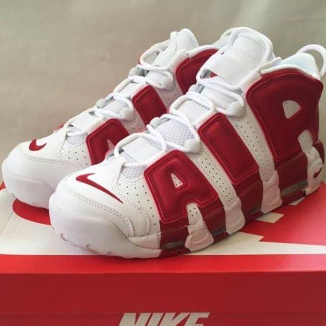 NIKE(ナイキ)の28 NIKE AIR MORE UPTEMPO WHITE-GYM RED メンズの靴/シューズ(スニーカー)の商品写真