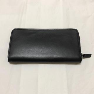 ムジルシリョウヒン(MUJI (無印良品))の即購入OK 美品【無印良品】 ラウンドファスナー 長財布 黒(長財布)