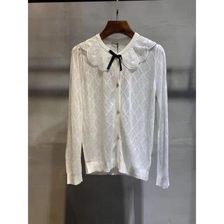 ミュウミュウ(miumiu)のミュウミュウ☆レース襟・カシミヤ&シルク・セーター(ニット/セーター)