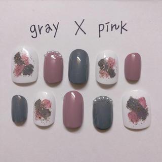 グレー ✖️ ピンク