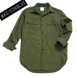 マディソンブルー(MADISONBLUE)のMADISONBLUE HAMPTON シャツ カーキ MB164-5712(シャツ/ブラウス(長袖/七分))