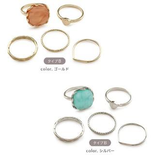 雑誌掲載商品★人気のリングセット 指輪セット ゴールド シルバー(リング(指輪))