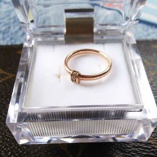 アガット(agete)のagete k10リング ダイヤ(リング(指輪))