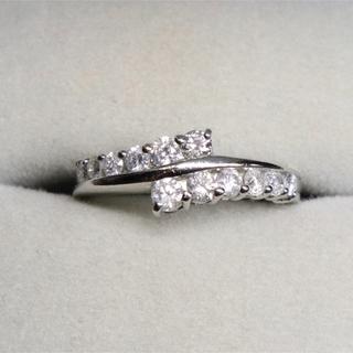ジュエリーツツミ(JEWELRY TSUTSUMI)のジュエリーツツミ 0.5カラット pt900 ダイヤ リング(リング(指輪))
