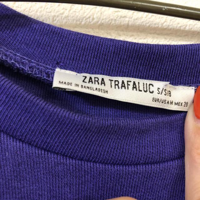 ZARA(ザラ)のZARA Tシャツワンピ パープル レディースのワンピース(ミニワンピース)の商品写真