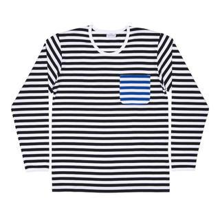 マリメッコ(marimekko)のマリメッコ × コムデギャルソン コラボ ロング Tシャツ 長袖 ボーダー(Tシャツ/カットソー(七分/長袖))
