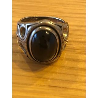 オニキス シルバーリング パワーストーン(リング(指輪))