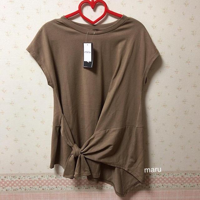 しまむら(シマムラ)のしまむら プチプラのあや ノットテクアシメT レディースのトップス(Tシャツ(半袖/袖なし))の商品写真