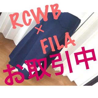 ロデオクラウンズワイドボウル(RODEO CROWNS WIDE BOWL)の新品♡ロデオ×FILA♡ロング丈♡スウェットスカート♡ブラック♡(ロングスカート)