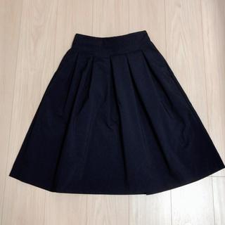 ユニクロ(UNIQLO)の【新品】ユニクロ  ひざ丈フレアスカート(ひざ丈スカート)