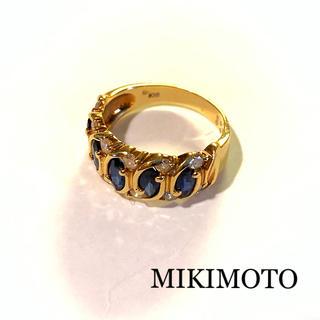 ミキモト(MIKIMOTO)の♦︎ MIKIMOTO / サファイア・ダイヤモンドリング・K18 ♦︎(リング(指輪))