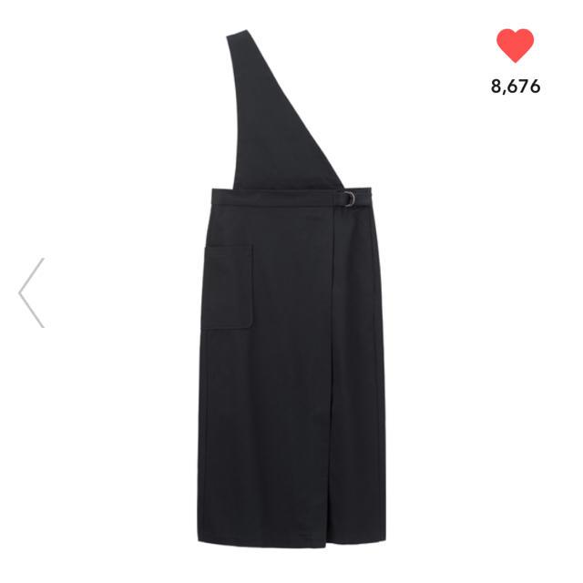 GU(ジーユー)のジーユー サス付きナローミディスカート サス付き ナロー ミディスカート 完売 レディースのスカート(ロングスカート)の商品写真
