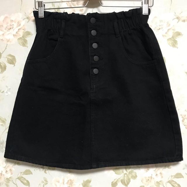 GU(ジーユー)のGU デニムフロントボタンミニスカート レディースのスカート(ミニスカート)の商品写真