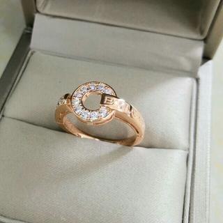 ブルガリ(BVLGARI)の超美品BVLGARI 指輪(リング) クリスタル飾り レディース プレゼント (リング(指輪))
