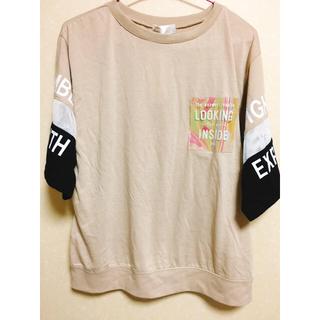 シマムラ(しまむら)のベージュTシャツ4Lゆまさん専用(Tシャツ(半袖/袖なし))