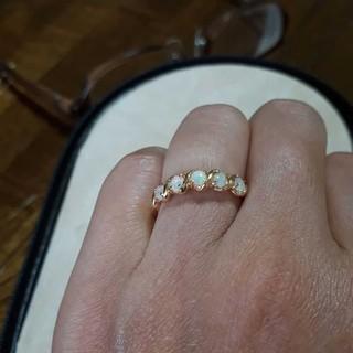 4℃ K18 オパールリング(リング(指輪))