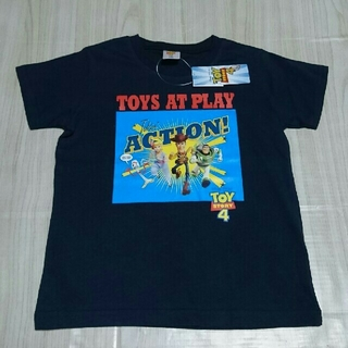 トイストーリー(トイ・ストーリー)のトイ・ストーリー4 ボーイズ Tシャツ 120 ネイビー トイストーリー(Tシャツ/カットソー)
