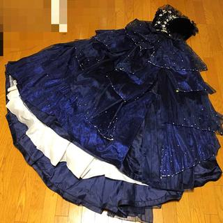 ウェディング  カラードレス ブルー  ドレス ブライダル(ウェディングドレス)