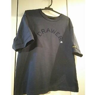 ドゥロワー(Drawer)のDrawer 人気ロゴT ネイビー フリーサイズ(Tシャツ(半袖/袖なし))