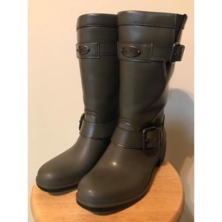 コーチ(COACH)のコーチCOACH レインブーツ 美品 7M (レインブーツ/長靴)