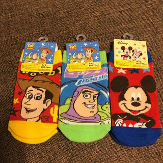 Disney -   ディズニーくつ下 3足セット 13〜16センチ
