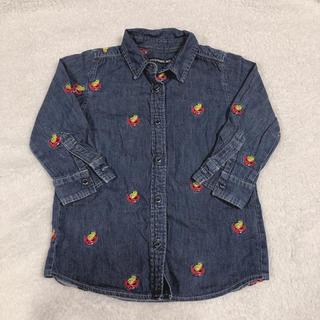ヒステリックミニ(HYSTERIC MINI)の刺繍ミニデニムシャツ(シャツ/カットソー)
