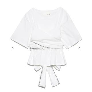 リリーブラウン(Lily Brown)のLily Brown バックリボン刺繍Tシャツ(Tシャツ(半袖/袖なし))