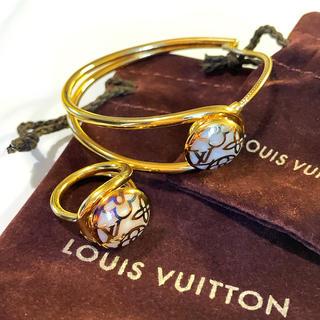 LOUIS VUITTON - ♦︎ LOUIS VUITTON /ブラスレセレストブレスレット&リング ♦︎