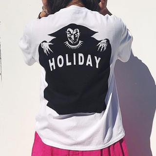 ホリデイ(holiday)の【お値下げ】holiday ホリディ XL Tシャツ 新品未使用 SPELL(Tシャツ(半袖/袖なし))