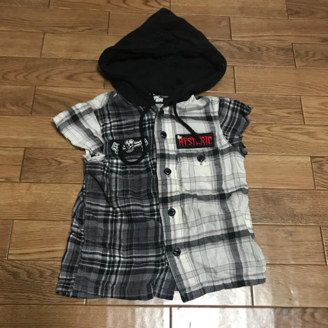 HYSTERIC MINI(ヒステリックミニ)のヒスミニ チェックシャツ 80サイズ キッズ/ベビー/マタニティのベビー服(~85cm)(シャツ/カットソー)の商品写真