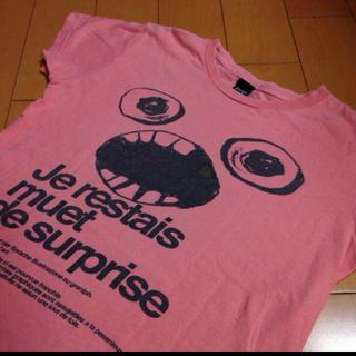 グラニフ(Design Tshirts Store graniph)のグラニフjerestaisピンクコットンT(Tシャツ(半袖/袖なし))