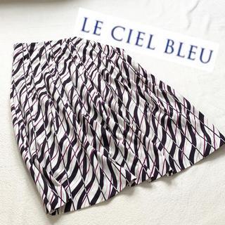 ルシェルブルー(LE CIEL BLEU)のルシェルブルー♡大人め柄プリントスカート(ひざ丈スカート)