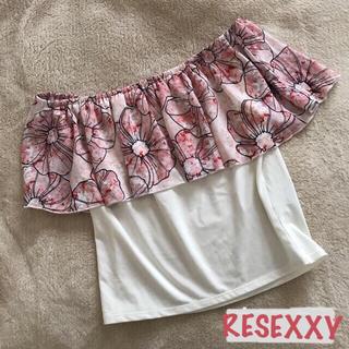 リゼクシー(RESEXXY)の花柄2wayオフショルトップス(カットソー(半袖/袖なし))