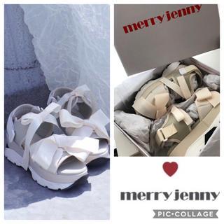メリージェニー(merry jenny)の新品 merry jenny メリージェニー リボンスニーカーサンダル(サンダル)