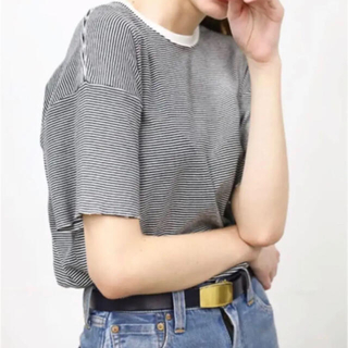 ヤエカ(YAECA)のあゆみ様専用。LENO&CO BORDER TEE  黒白 ボーダー(Tシャツ(半袖/袖なし))