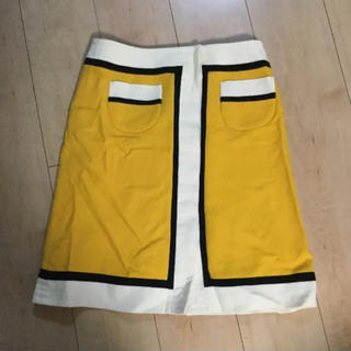 ティアラ(tiara)のTiaraで一目惚れした60年代風 黄色レトロスカート (ひざ丈ワンピース)