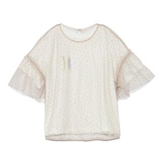 リリーブラウン(Lily Brown)のバービーチュールレイヤードTシャツ(Tシャツ(半袖/袖なし))