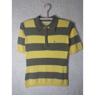 トミーヒルフィガー(TOMMY HILFIGER)の4189 トミー ヒルフィガー 半袖 ハーフ ジップ ボーダー ポロシャツ(ポロシャツ)