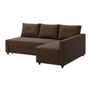 イケア(IKEA)のIKEA ソファーベッド 収納付 ブラウン  名古屋(三人掛けソファ)