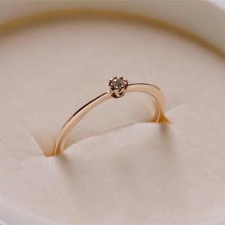 アガット(agete)のagete ダイヤ リング ピンクゴールド k10(リング(指輪))