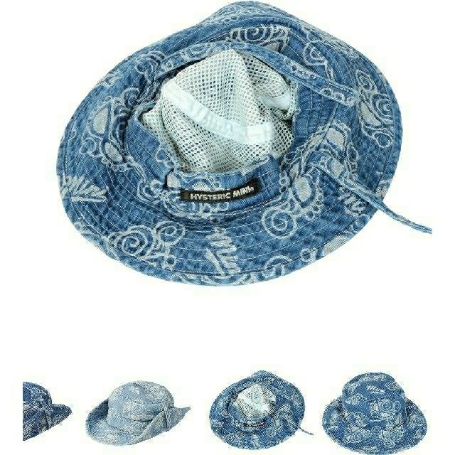 HYSTERIC MINI(ヒステリックミニ)のHYSTERIC MINI ライトオンスデニム総柄ジャガードハット  送料無料 キッズ/ベビー/マタニティのこども用ファッション小物(帽子)の商品写真