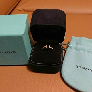 ティファニー(Tiffany & Co.)のTiffany ティファニー Tワイヤー ダイヤモンド リング(リング(指輪))