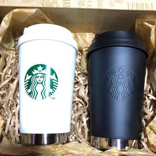 スターバックスコーヒー(Starbucks Coffee)の☆新品☆スターバックス ステンレスTogoタンブラー マットブラック &ホワイト(タンブラー)