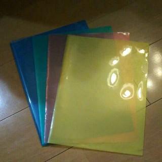 カラークリアファイル4色セット8枚(クリアファイル)