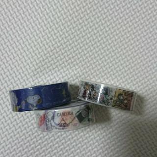 スヌーピー(SNOOPY)のピーナッツ スヌーピー マスキングテープ 3巻(テープ/マスキングテープ)