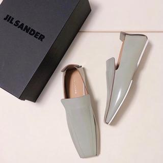 ジルサンダー(Jil Sander)の値下げ中!【JIL SANDER】モカシン 36 ライトグレー (スリッポン/モカシン)