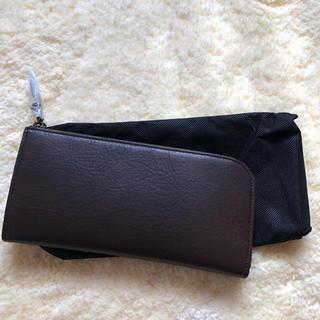 ムジルシリョウヒン(MUJI (無印良品))の無印 ヌメシュリンク革 Lファスナー長財布(財布)