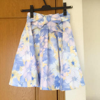 LIZ LISA - 【最終価格】LIZ LISA 花柄 リボン カジュアルスカート