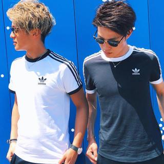 アディダス(adidas)のアディダス スリーストライプ tシャツ(Tシャツ/カットソー(半袖/袖なし))