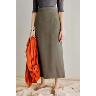 メゾンドリーファー(Maison de Reefur)のetre tokyo  ハイウエストロングスカート(ロングスカート)